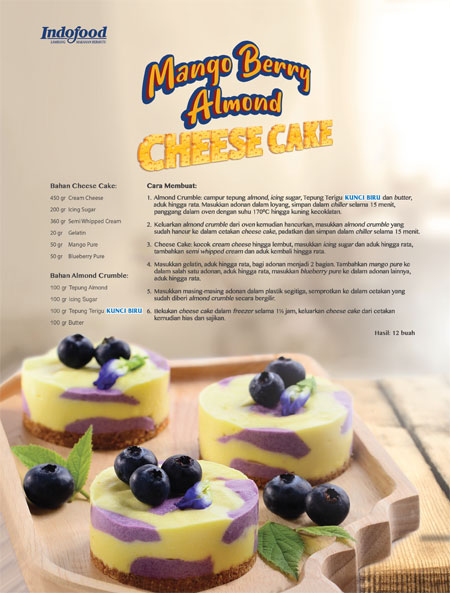 Mango Berry Almond Cheese Cake