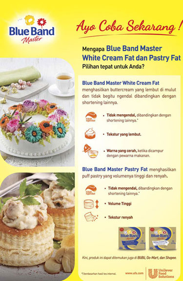 Blue Band Master White Cream Fat & Blue Band Master Pastry