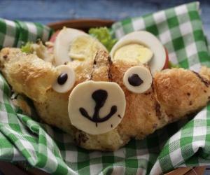 Brown Bear Egg Sandwich Croissant